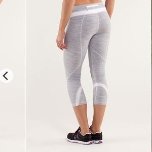 """Lululemon inspire crop 19"""" we are space white"""